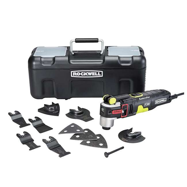 RK5151K Rockwell Sonicrafter F80 4.2 Amp Oscillating Multi-Tool Set