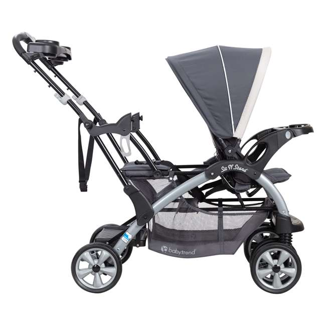 SS76C81A Baby Trend Sit N' Stand Easy Fold 5 Point Harness Double Stroller, Magnolia 2
