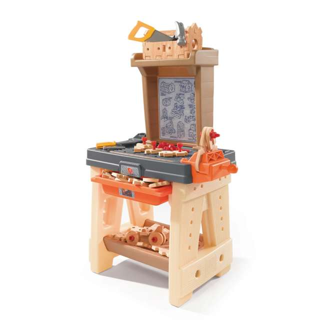 762700-U-A Step2 Pretend Play Toy Wood Working Tools Real Projects Workbench (Open Box)