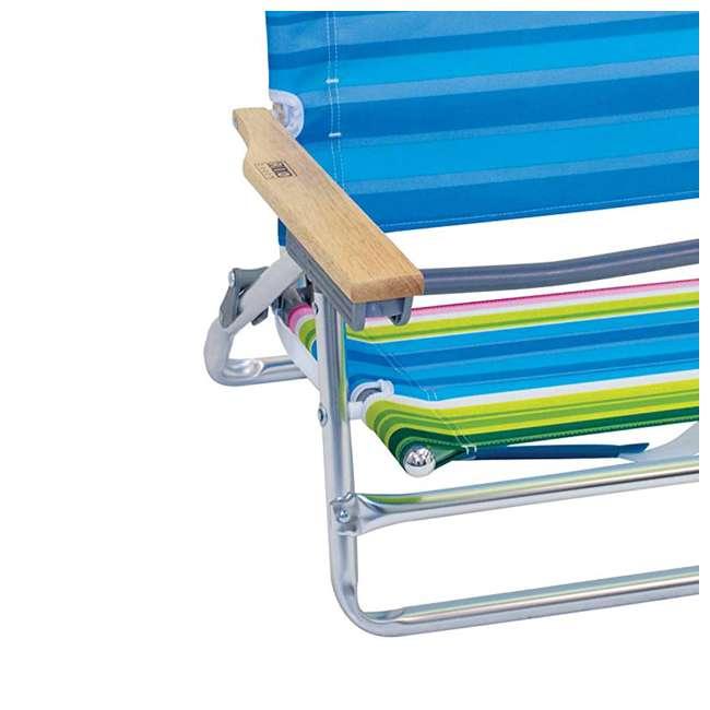 ASC590-1803-1 Rio Classic 5 Position Aluminum Lay Flat Folding Beach Lounge Chair, Beach Club 6