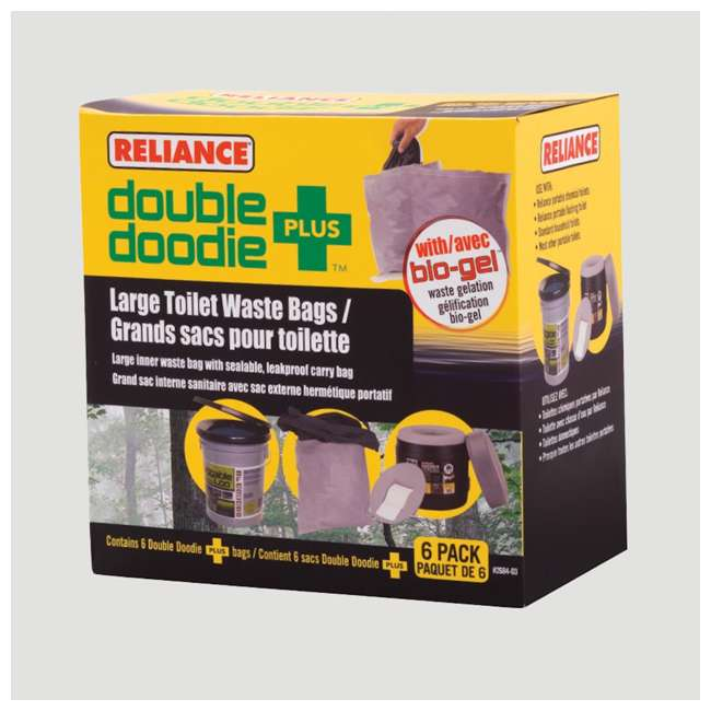 2684-03 Reliance Products Double Doodie Plus Large Capacity Toilet Waste Bags, Gray 1