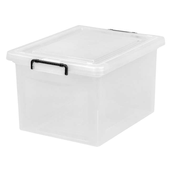 585950-6PK IRIS USA Letter and Legal Size File Box Storage Container with Buckle, Clear 1