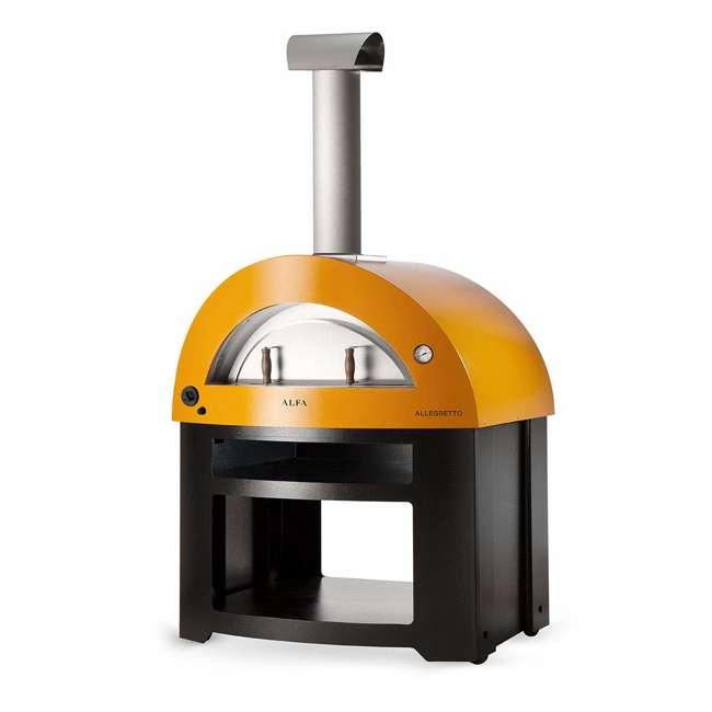 FXALLE-LGIA Alfa FXALLE-LGIA Allegro Outdoor Steel Italian Pizza Wood Oven with Base, Yellow