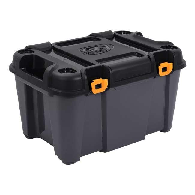 5 x FBA31730 Ezy Storage Bunker 80 Liter Heavy Duty Garage Storage Container Tub (5 Pack) 1