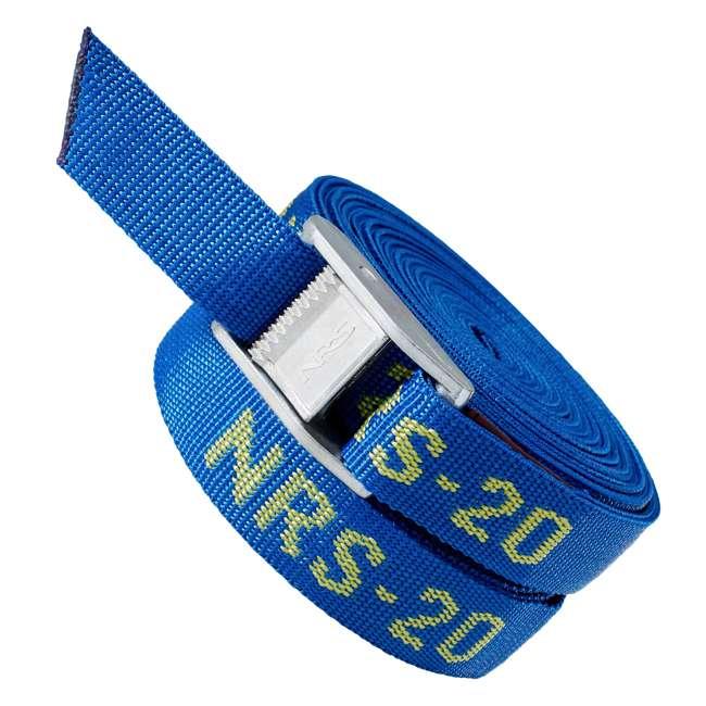 NRS_60001_01_117 NRS 1-Inch Long Heavy Duty Tie Down Strap, 20 Feet Long (Pair) 2