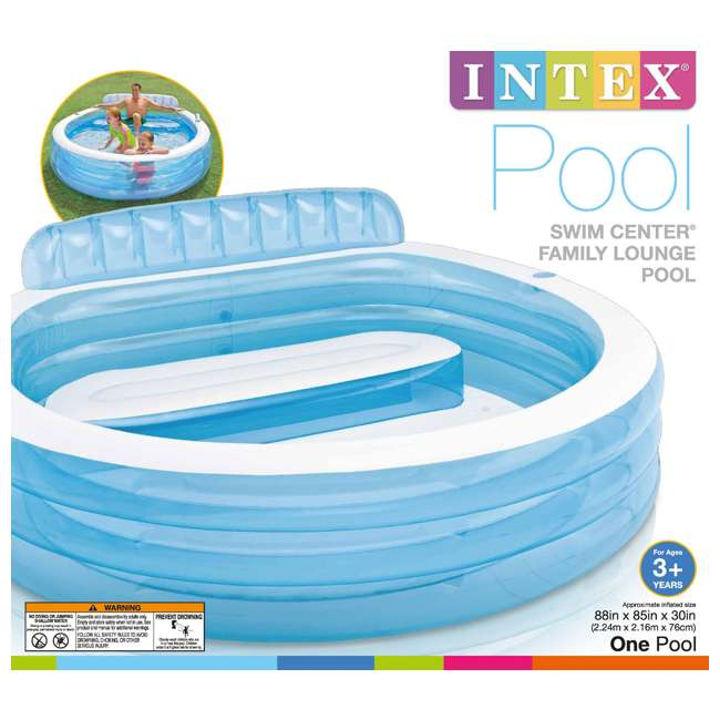57190EP-U-A Intex Swim Center Infalatbale Family Lounge Pool with Bench (Open Box) (2 Pack) 2