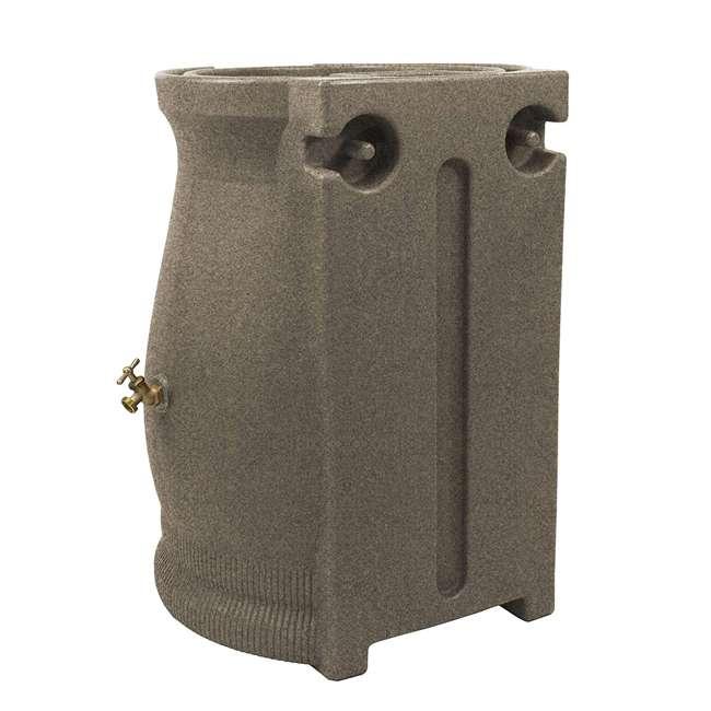 RWURN50-SAN Good Ideas Rain Wizard Barrel Urn 50 Gallons, Sandstone 1