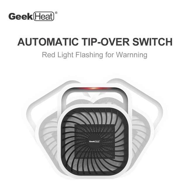 HA31-05E Geek Heat HA31-05E 500 Watt Mini Personal Portable Ceramic Fan Space Heater (2 Pack) 7