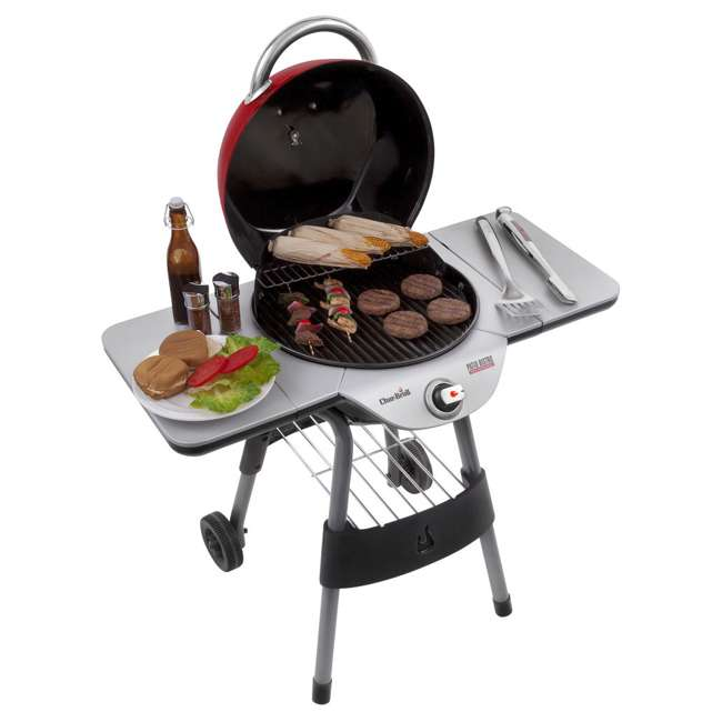 17602047-U-C Char Broil BBQ TRU Infrared Electric Patio Bistro Barbecue Grill Red (For Parts) 8