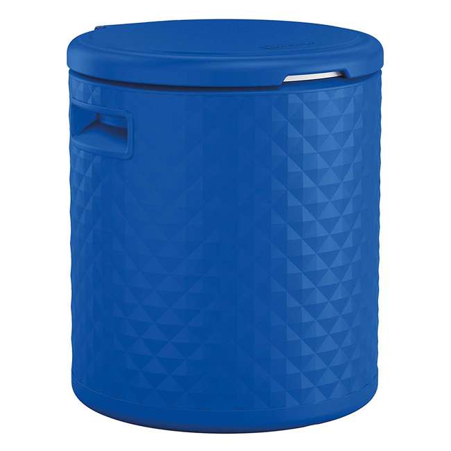 BMDC1000BD Suncast 3 in 1 Design 54 Quart Resin Cooler Side Table & Decorative Stool, Blue