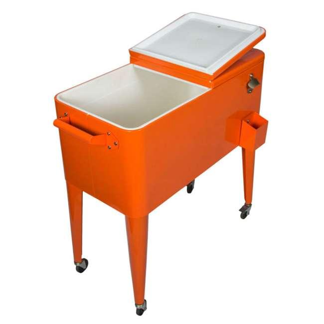 PS-203-ORANGE Permasteel 80-Quart Rolling Patio Cooler (2 Pack) 2