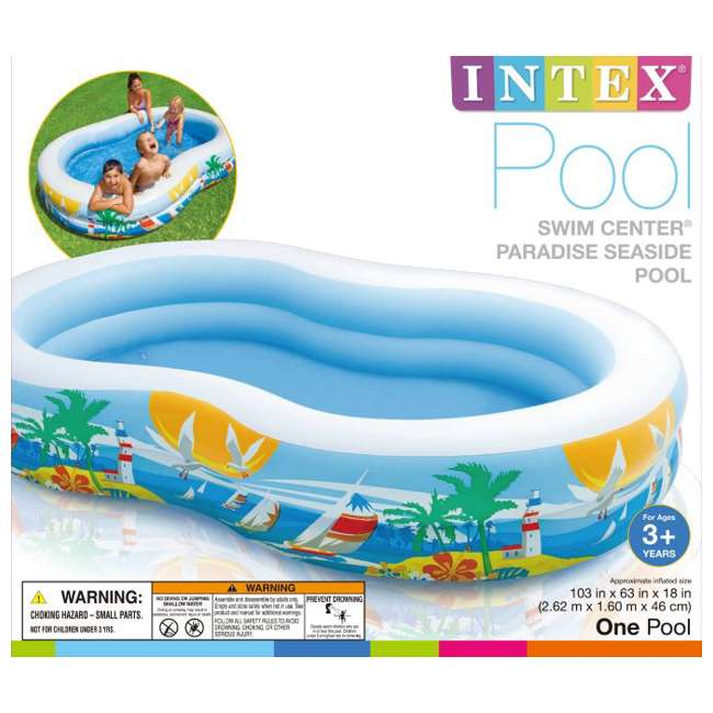 Intex swim center inflatable paradise seaside kids swimming pool 56490ep Intex inflatable swimming pool