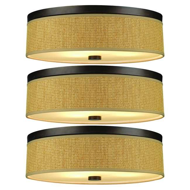 3 x PLC-F615620 Philips Forecast 60W Cassandra Ceiling Light, Sorrel Bronze (3 Pack)