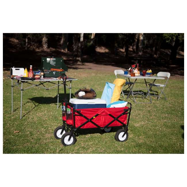 MAC-WTC-109-RED-U-A Mac Sports Collapsible Steel Frame Outdoor Utility Cart(Open Box) (2 Pack) 9