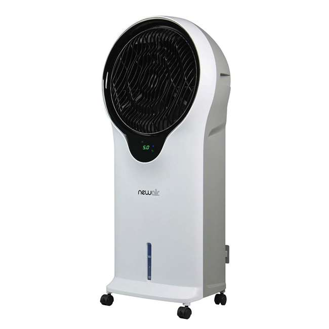 EC111W NewAir Portable Air Conditioner Evaporative Cooler Tower Fan with Remote, White