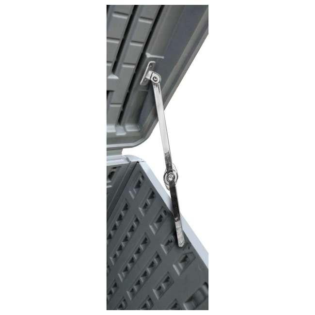 HDEDB105WLG-SC Plastic Development Group 105-Gallon Resin Outdoor Storage Deck Box, Driftwood 3