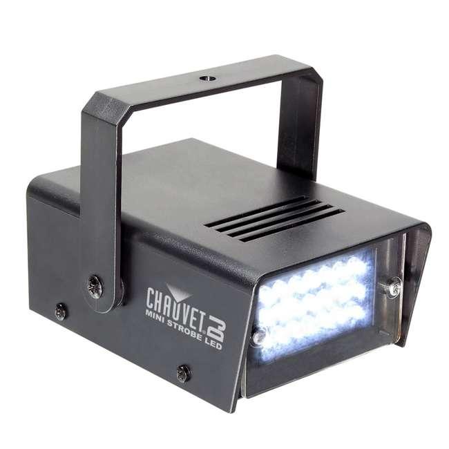HURRICANE-HAZE2D+FJU+ MINISTROBE-LED + BLACK-24BLB CHAUVET Fog Machine w/ Mini Strobe Light Effect, Black Light & Fog Fluid 8