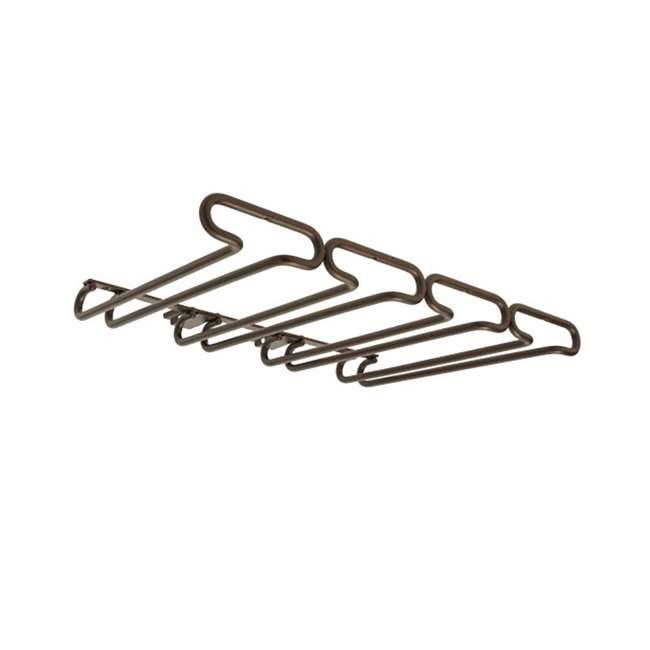 """3450-11ORB Rev-A-Shelf 3450-11ORB 11"""" Quad Under Cabinet Glass & Stemware Holder, Bronze"""