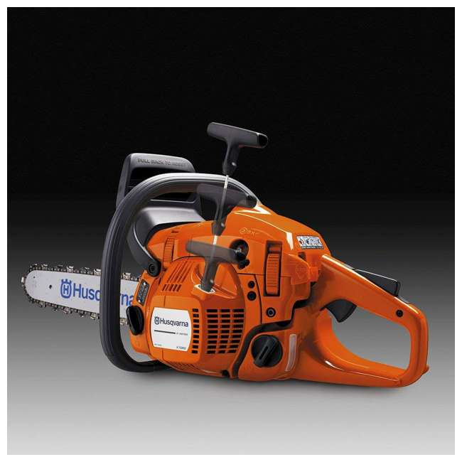 HV-CS-967651004 + HV-TOY-522771104 Husqvarna 445E 18 Inch Bar Gas Chainsaw and 440 Toy Childrens Chainsaw, Orange 3