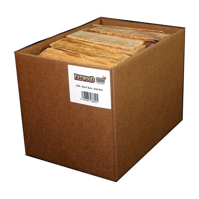 BWP-08820 BetterWood Products Fatwood Rip & Burn Firestarter Natural Waterproof Wood, 20 Pounds
