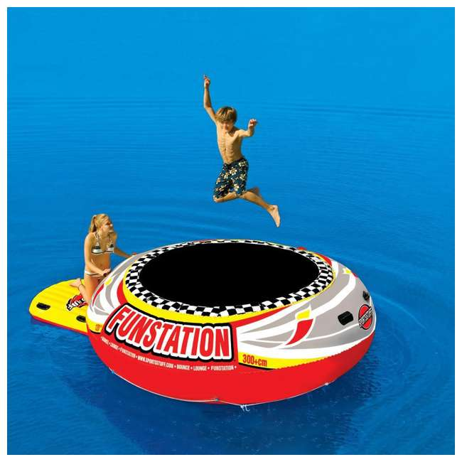 58-1015-OB Sportsstuff Funstation 10-Foot PVC Inflatable Trampoline (Open Box) 4