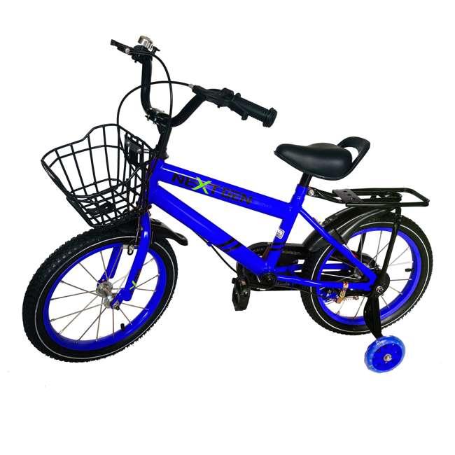 16BK-BLUE NextGen 16 Inch Childrens Kids Bike Bicycle with Training Wheels & Basket, Blue