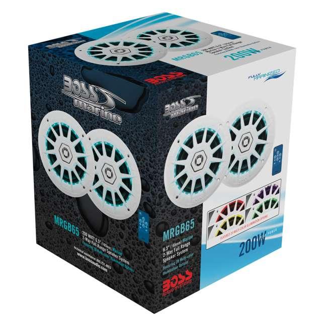 MRGB65 Boss Audio Marine 200W MRGB65 6.5 Inch Boat Light White Speakers Pair (Pair) 6