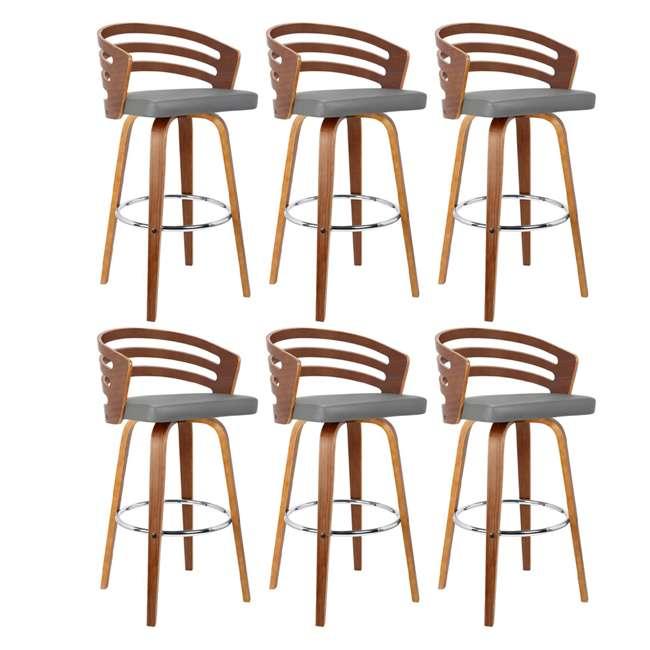 6 x LCJYBAGRWA30 Armen Living Jayden 30 Inch Mid Century Swivel Barstool Chair, Gray (6 Pack)