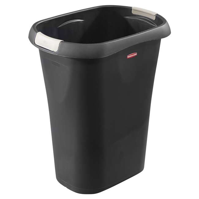 1835854 Rubbermaid 8 Gallon Plastic Home/Office Wastebasket Trash Can with Liner Lock