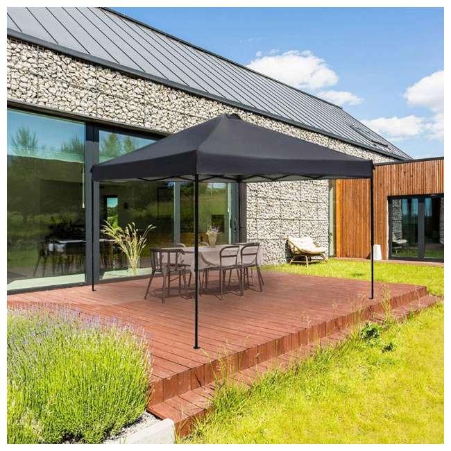 APFGA1010DG Abba Patio 10 x 10' Outdoor Pop Up Canopy, Dark Gray 5