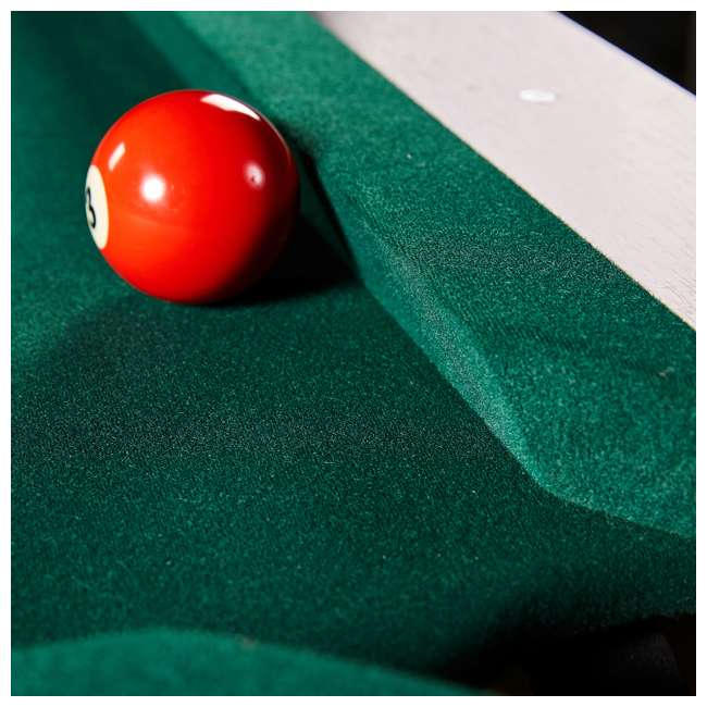 BLL090_128P Lancaster 90-Inch Full Size Green Pool Table w/ Leather Pockets, Cues, and Chalk 3