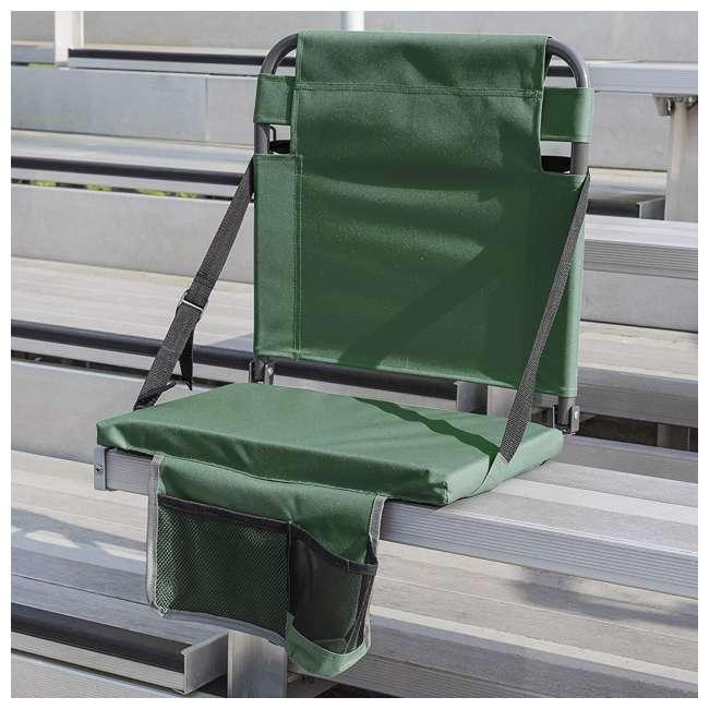 1-1-58811-DS + SL92-T-BK Eastpoint Sports Stadium Seat & Chantal 15 Oz Travel Mug, Green 3