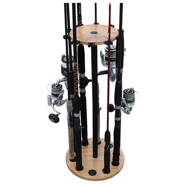 38-3021 Rush Creek Creations 38-4053 Round 16 Fishing Rod Storage Rack Organization