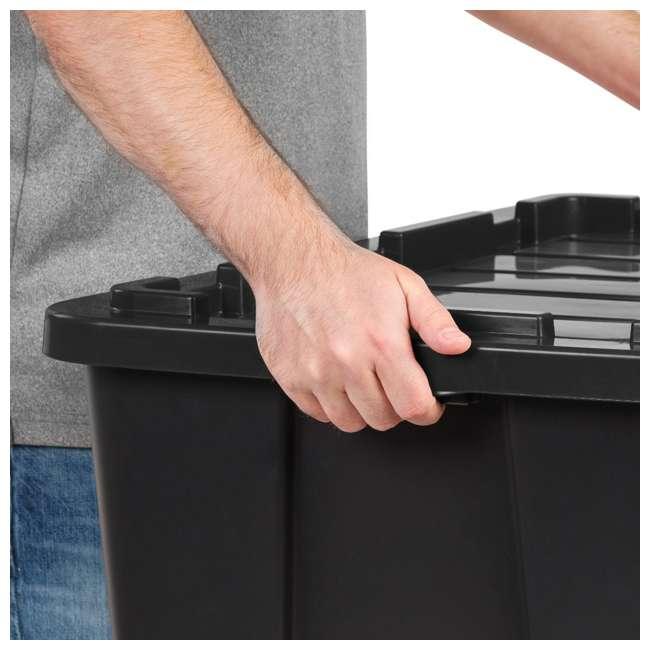 4 x 589090 IRIS USA 589090 27 Gallon Utility Tough Stackable Plastic Storage Tote, Black 2