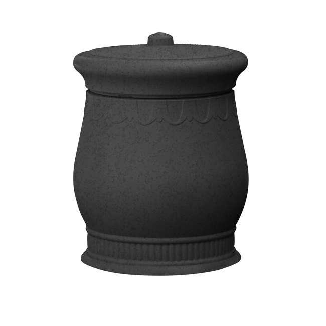 SV-URN-DAR Good Ideas Savannah Decorative 30 Gallon Storage & Waste Basket Urn, Dark Granite