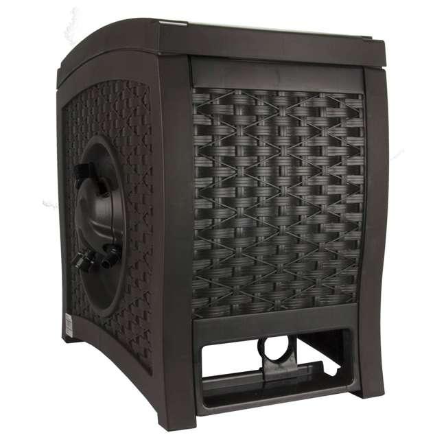 RSW125D-U-A Suncast 125 Ft Garden Hose Wicker Reel Touch and Go - Mocha (Open Box) (2 Pack)