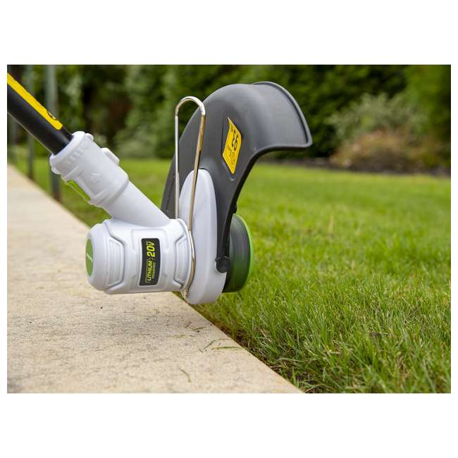 PGT120 + PLB12040 PowerSmith 20V Max Cordless Battery Powered Lawn String Trimmer w/ Extra Battery 6
