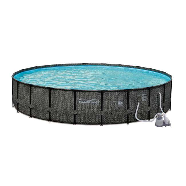 Summer waves elite 24 39 x 52 above ground frame pool set - Summer waves pool ...