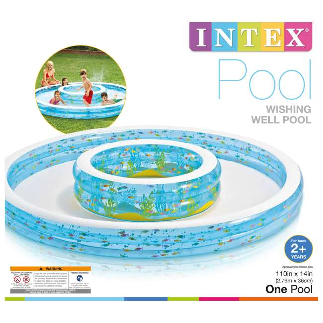 Intex Sun Amp Shade Inflatable Froggy Fun Baby Swimming Pool