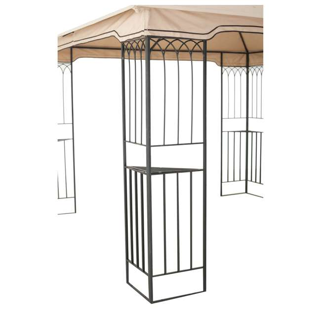 110101009 Sunjoy 10 x 10 Foot Backyard Outdoor Fence AIM Gazebo Canopy, Beige 3
