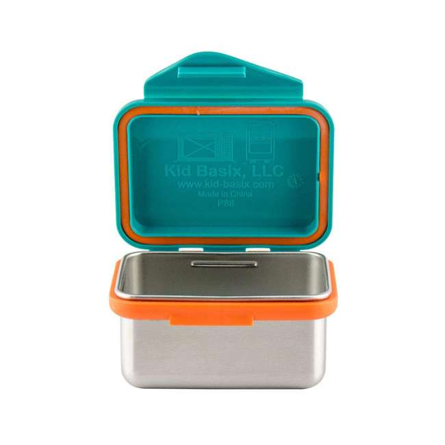 796515002867 + 796515002737 + 796515002836 Kid Basix Safe Snacker 23oz Stainless Steel Lunch Box + 7oz and 13oz Containers 5