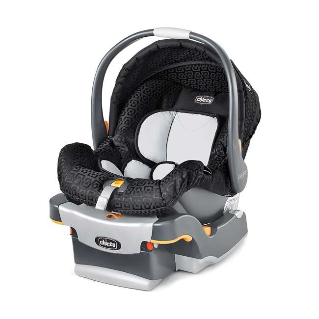 CHI-0607966295 + CHI-0706041450 Chicco Car Seat Compatible Shuttle Frame Stroller and Rear Facing Baby Car Seat 7