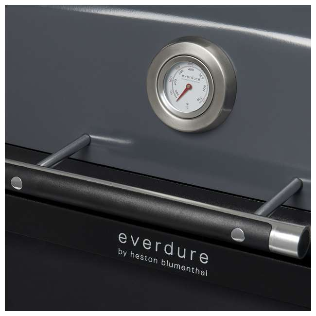 HBG2GUS Everdure HBG2GUS 42.65 Inch 2 Burner Force Freestanding Propane Grill, Graphite  5