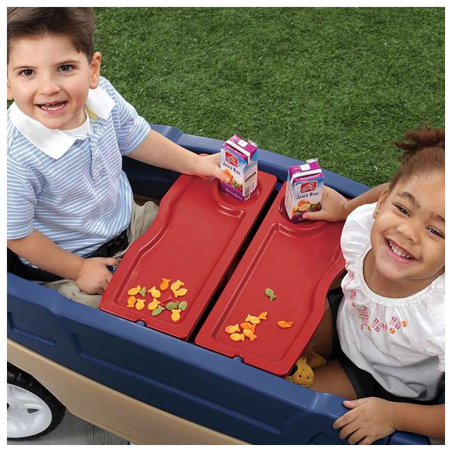 837200-U-A Step2 Whisper Ride Touring Wagon II 3-in-1 Toddler Outdoor Canopy Pull Wagon (Open Box) 4