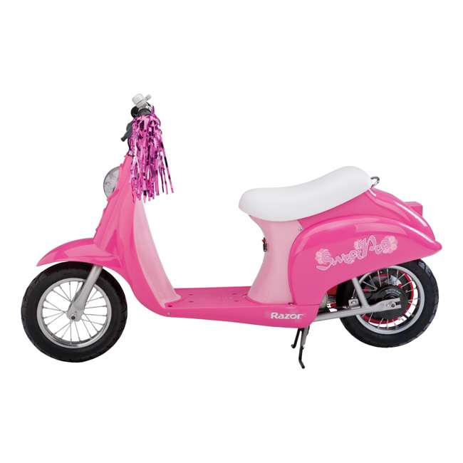 15130659 + 97783 Razor Pocket Mod Electric Sweet Pea Scooter & Youth Helmet (Pink) 3