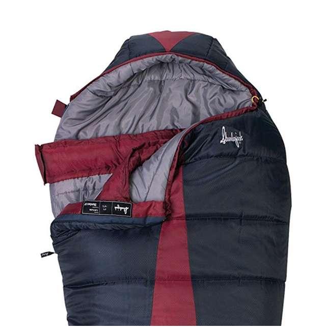 51723211RR Slumberjack Latitude Regular Zero Degree Sleeping Bag, Red (2 Pack) 4