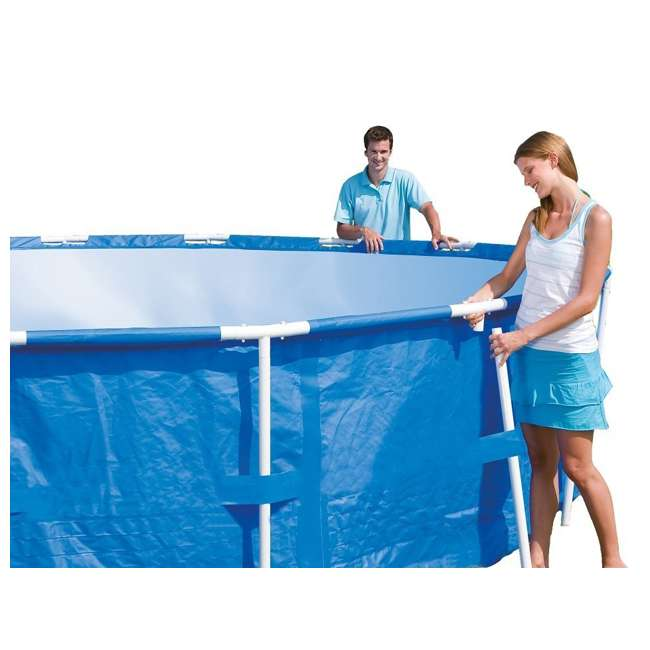 """56407E Bestway 10' x 30"""" Steel Pro Frame Above Ground Pool (2 Pack) 4"""