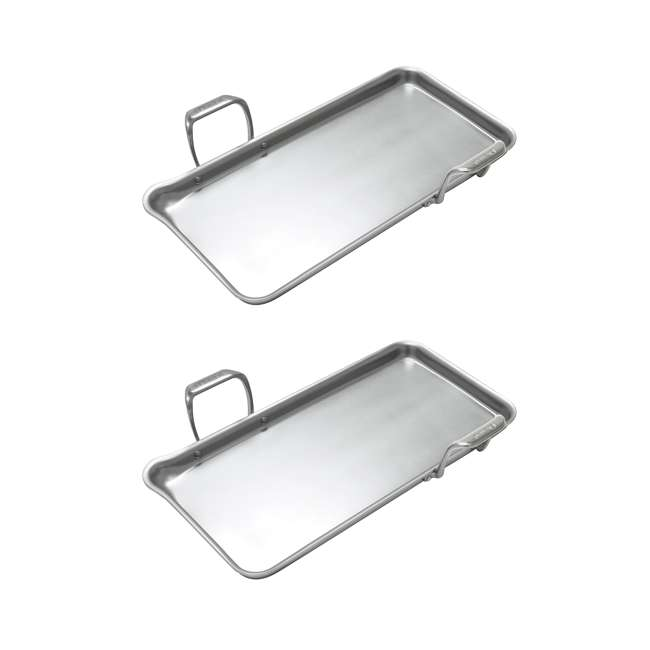SLT60-48 Chantal 19 x 9.5-Inch Induction 21 Steel Tri-Ply Griddle (2 Pack)