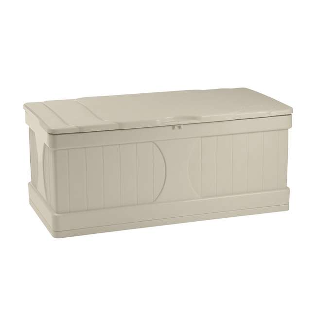 DB9000 Suncast 99-Gallon Outdoor Patio Storage Deck Box (2 Pack) 1