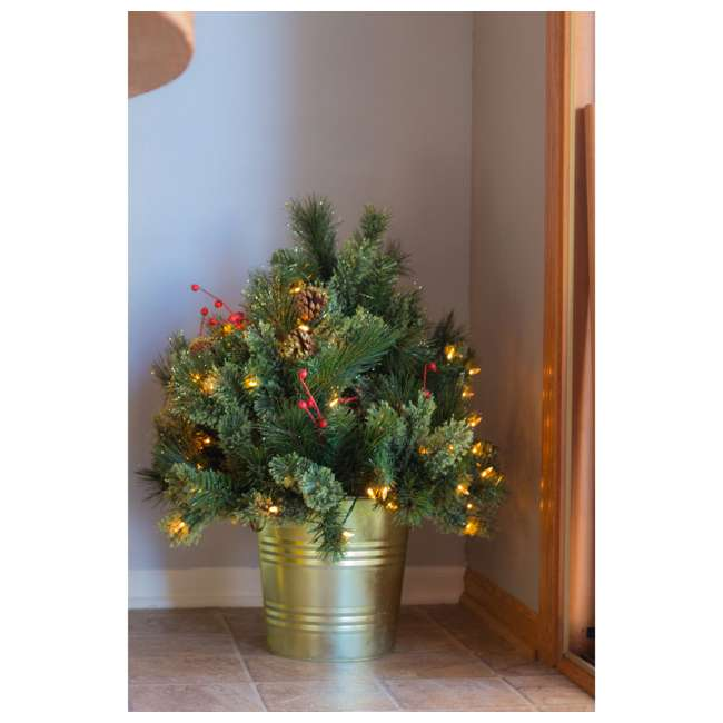 TV22M3M26L02 Home Heritage 26 Inch Artificial Holiday Shrub with LED Lights (2 Pack) 3